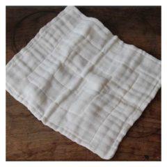 国産素材で麻織物と綿織物の手法を組み合わせた蚊帳ふきん